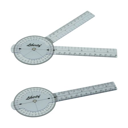 LR Instruments General Medical Products GP6-3-Liberty-Goniometer-Plastic-360-Degrees-16cm