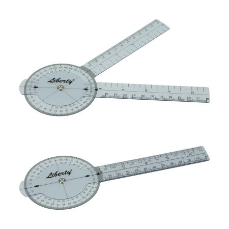 LR Instruments General Medical Products GP6-3-Liberty-Goniometer-Plastic-360-Degrees-16cm_1