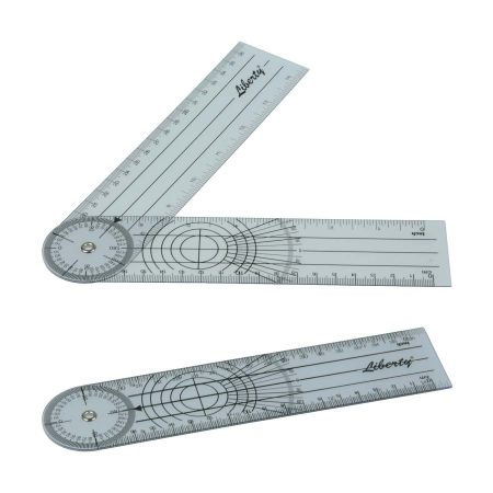 LR Instruments General Medical Products GP8-3-Liberty-Goniometer-Plastic-180-Degrees-19cm_1
